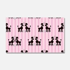 Pink Poodles And Diamonds Car Magnet 20 x 12