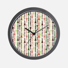 Orange Clarinet Flip Flops Wall Clock