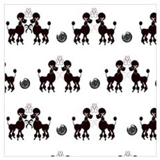 French Poodles Canvas Art