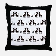 French Poodles Throw Pillow