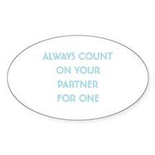 Euchre Partner Oval Decal
