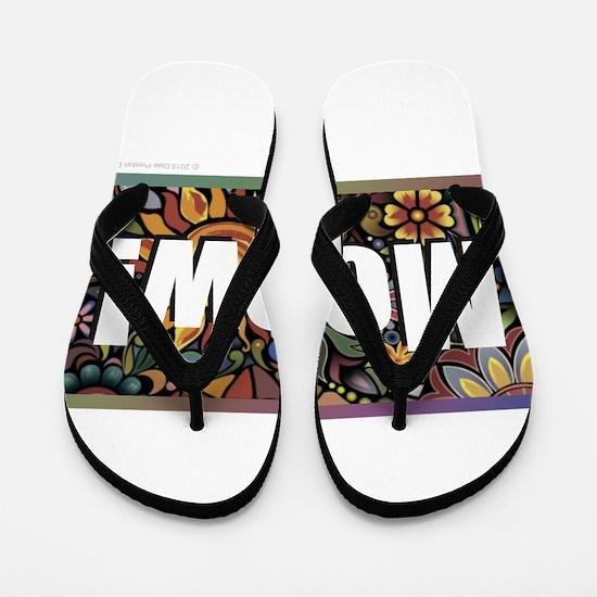 Funny Kitteh Flip Flops