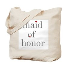 Maid of Honor Grey Text Tote Bag