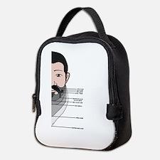 Beard Length Chart Neoprene Lunch Bag