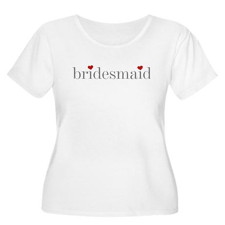 Gray Text Bridesmaid Women's Plus Size Scoop Neck