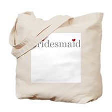 Bridesmaid Grey Text Tote Bag