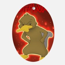 Shank the platypus Oval Ornament