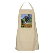 Gauguin - Horse on Road, Tahitian Landscape Apron