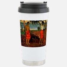 Gauguin - Beneath the P Stainless Steel Travel Mug