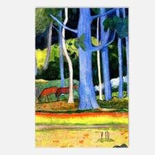 Gauguin - Landscape with  Postcards (Package of 8)