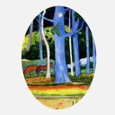 Gauguin - Landscape with Blue Tree T Oval Ornament