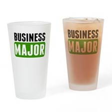 Business Major Drinking Glass