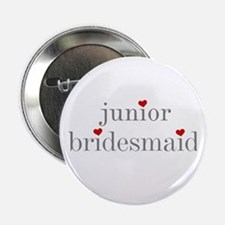 Junior Bridesmaid Grey Text Button