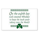 irish whiskey Rectangle Sticker