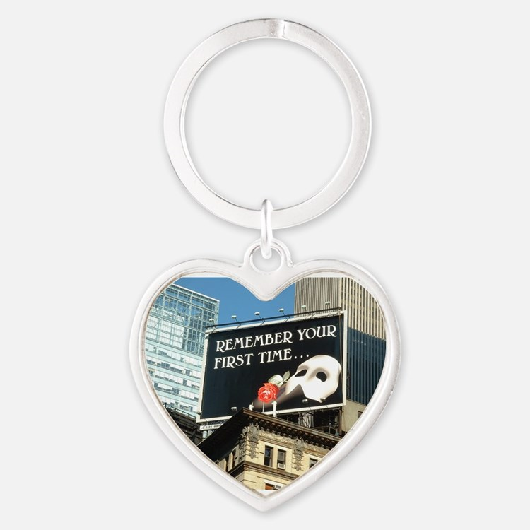 Cute Digital photo Heart Keychain
