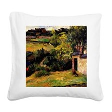 Gauguin - Rouen Suburb Square Canvas Pillow