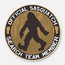 Sasquatch Search Team Round Car Magnet
