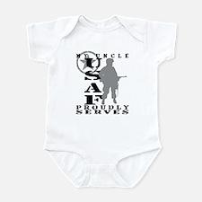 Uncle Proudly Serves - USAF Infant Bodysuit