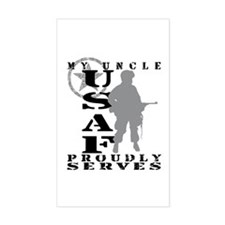 Uncle Proudly Serves - USAF Rectangle Decal