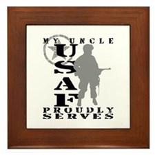 Uncle Proudly Serves - USAF Framed Tile