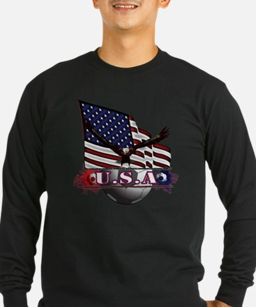 USA Flag & Soccer with Ea T