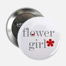 Flower Girl Grey Text Button
