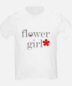 Flower Girl Grey Text Kids T-Shirt