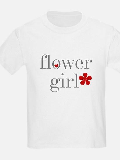 Flower Girl Grey Text Kids T-Shirt