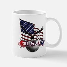 USA Flag & Soccer with Eagle Mugs