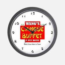 WANG'S CHINESE BUFFET Wall Clock