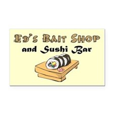 ED'S BAIT SHOP Rectangle Car Magnet