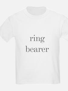 Ring Bearer Grey Text Kids T-Shirt
