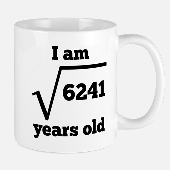 79th Birthday Square Root Mugs