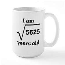 75th Birthday Square Root Mugs