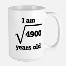 70th Birthday Square Root Mugs