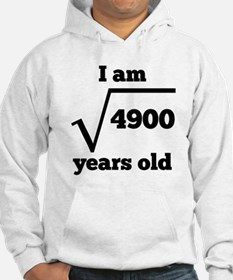 70th Birthday Square Root Hoodie
