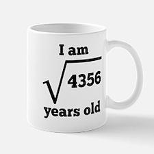 66th Birthday Square Root Mugs