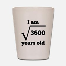 60th Birthday Square Root Shot Glass