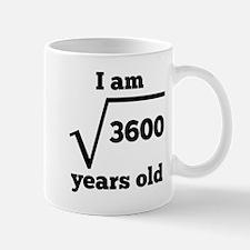 60th Birthday Square Root Mugs