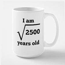 50th Birthday Square Root Mugs