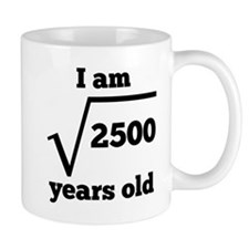 50th Birthday Square Root Mugs