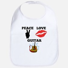 Peace Love Guitar Bib
