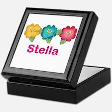 stella's tropical flower personalized Keepsake Box