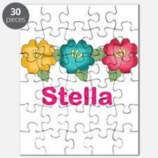 stella's tropical flower personalized Puzzle