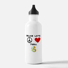 Peace Love Tuba Water Bottle