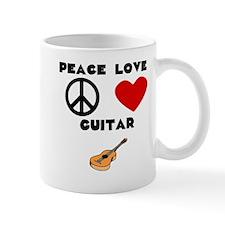 Peace Love Guitar Mugs