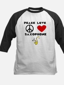 Peace Love Saxophone Baseball Jersey