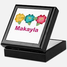 makayla's tropical flower personalize Keepsake Box