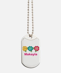 makayla's tropical flower personalized Dog Tags