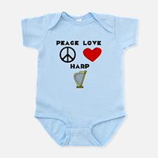 Peace Love Harp Body Suit
